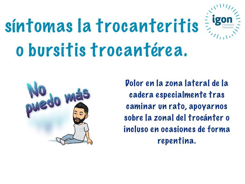 Síntomas de la trocanteritis