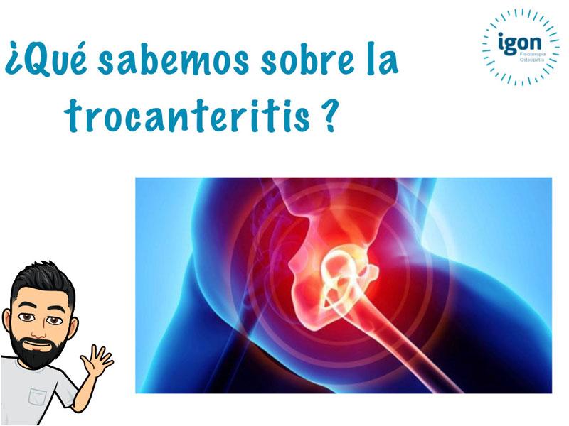 Trocanteritis o bursitis trocantérea