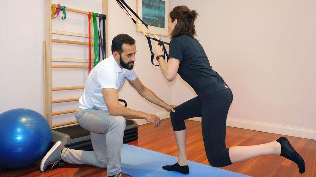 Ejercicios en cadera en fisioterapia